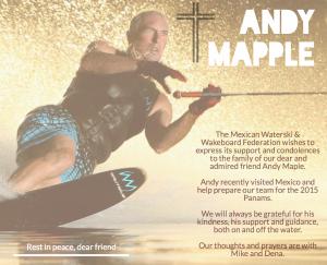 Esquela Andy Mapple inglés