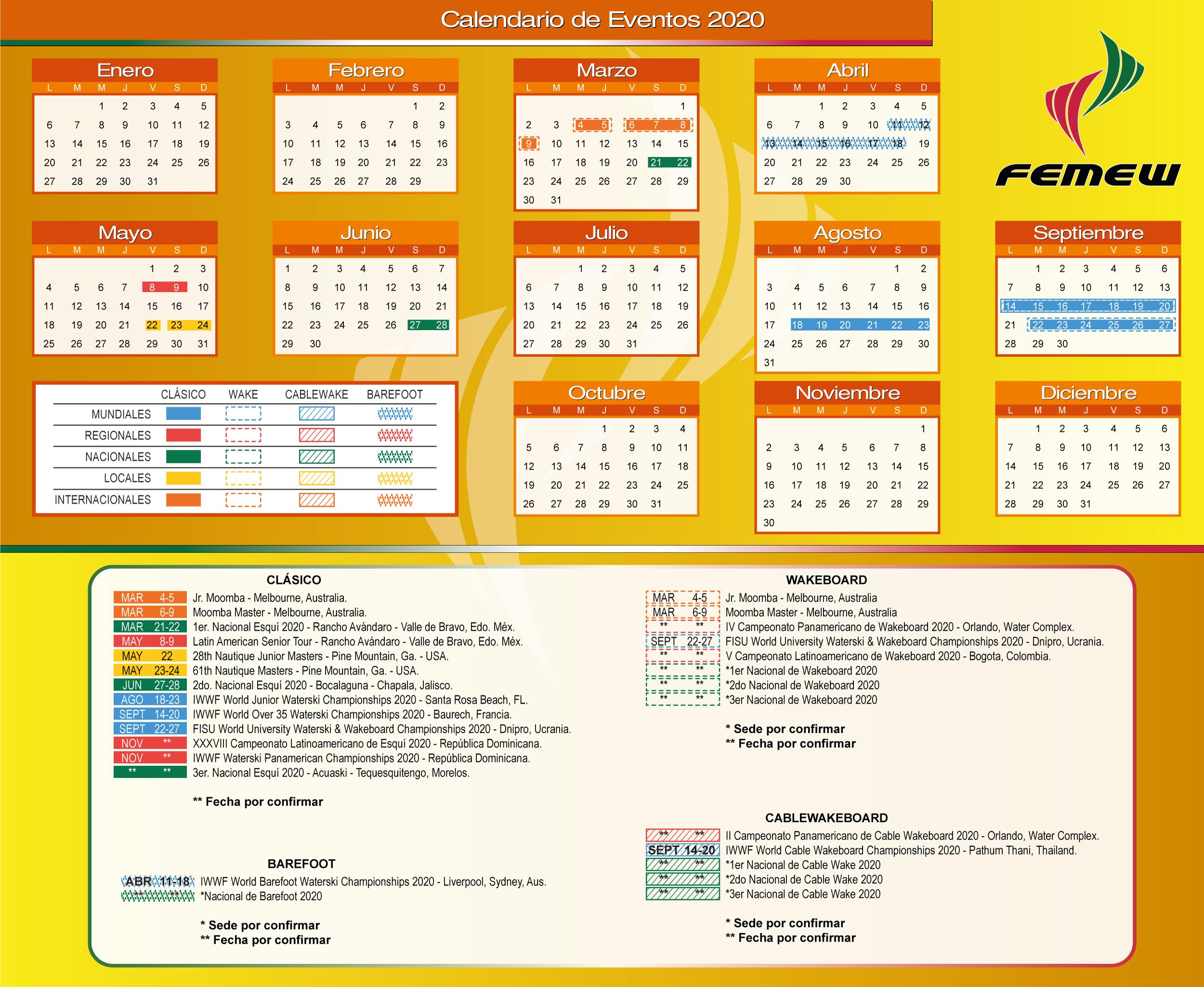 Calendario-FEMEW-2019
